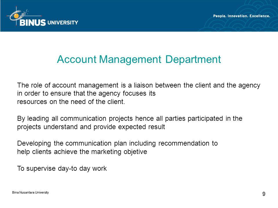 Account Management Department