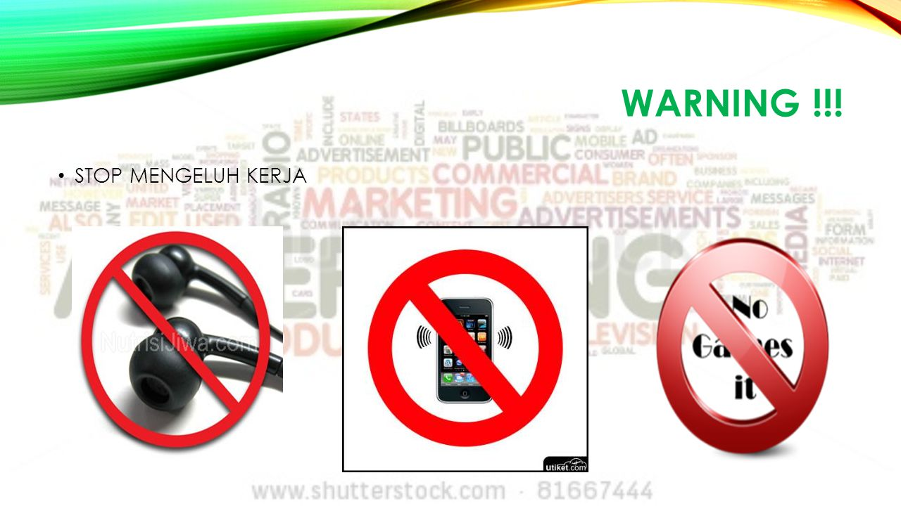 WARNING !!! STOP MENGELUH KERJA
