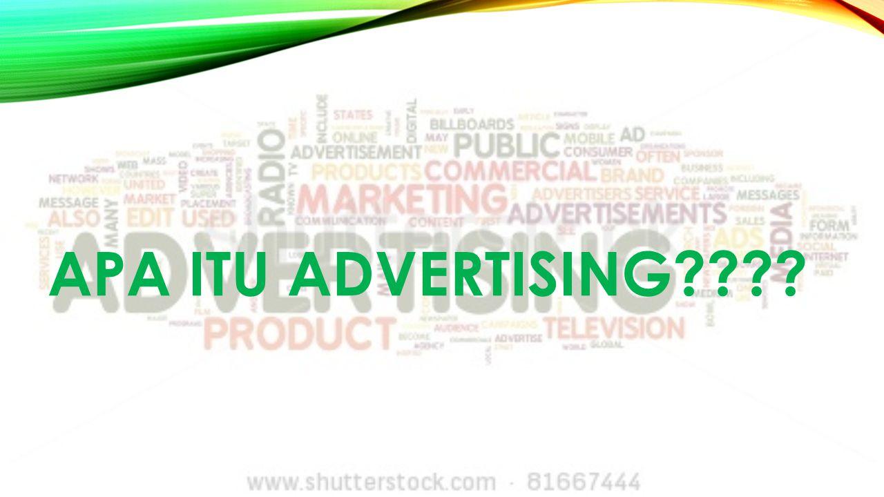 Apa itu advertising