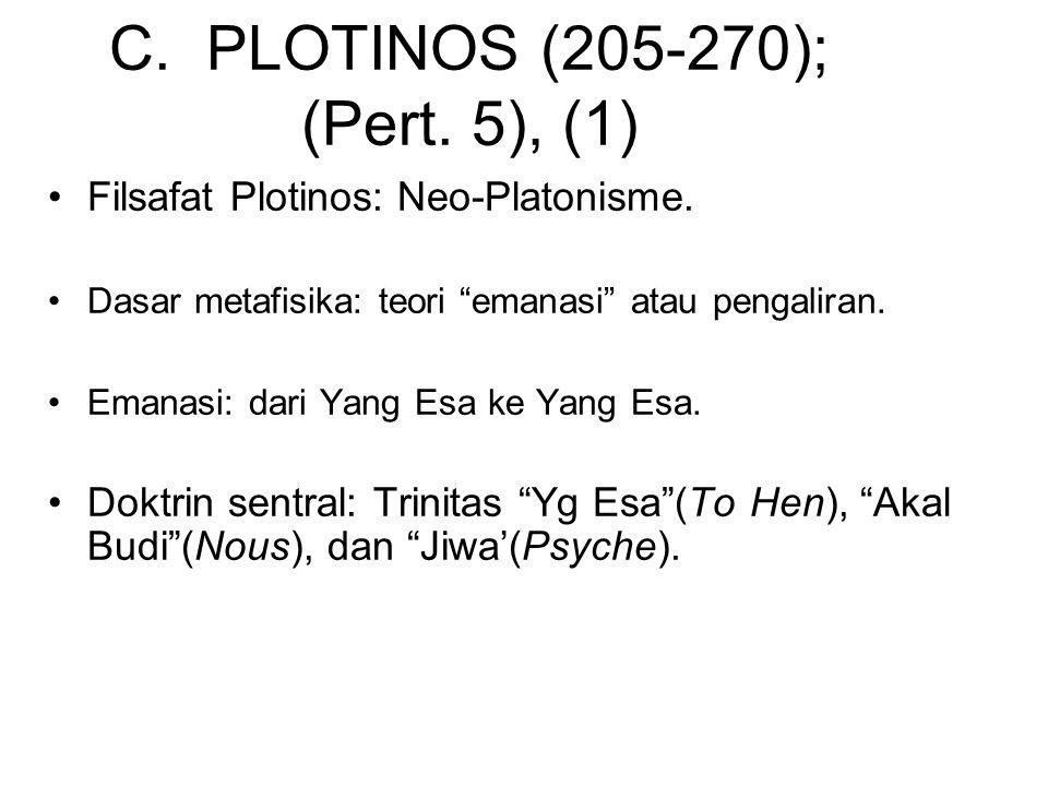 C. PLOTINOS (205-270); (Pert. 5), (1)