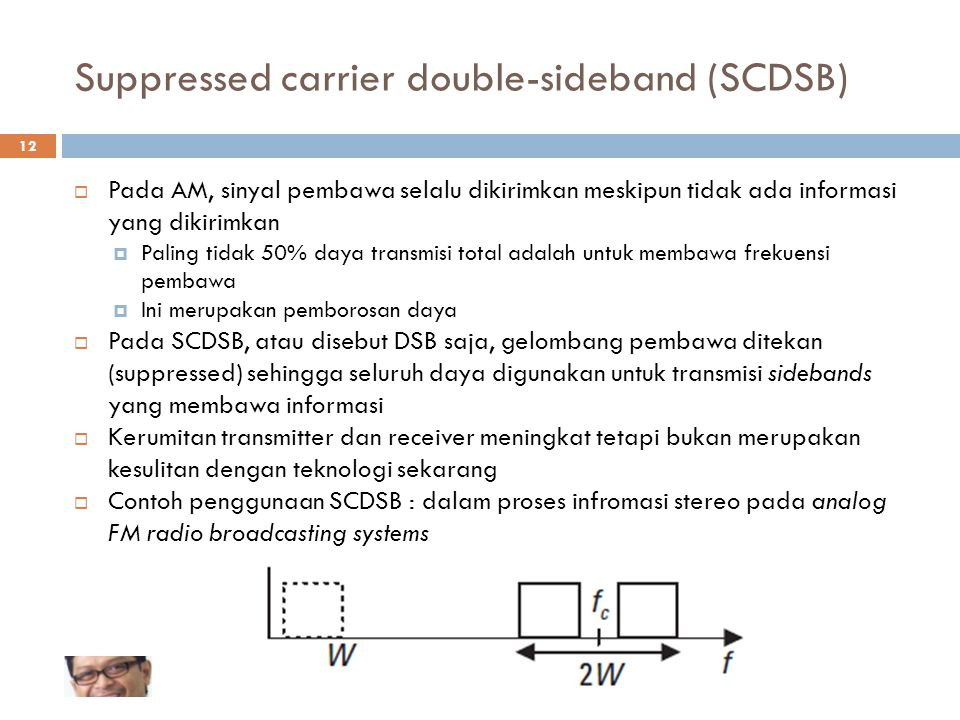 Suppressed carrier double-sideband (SCDSB)