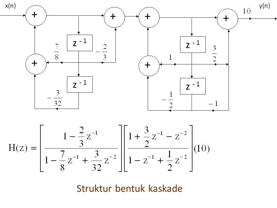 Struktur bentuk kaskade