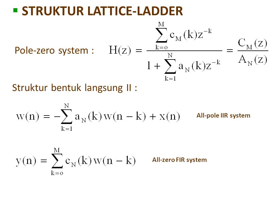 STRUKTUR LATTICE-LADDER