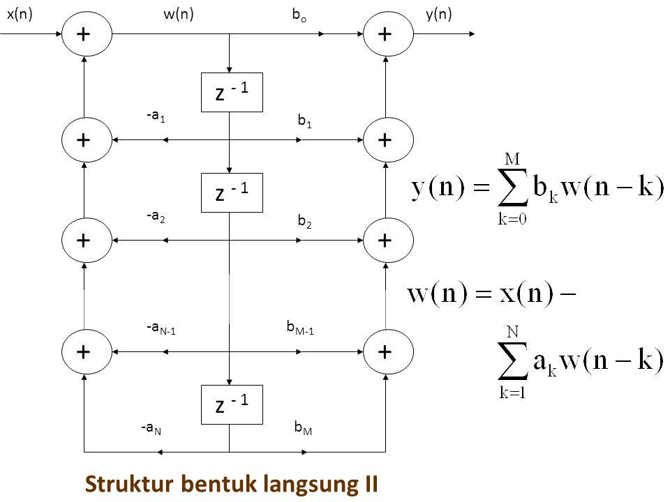 Struktur bentuk langsung II z - 1