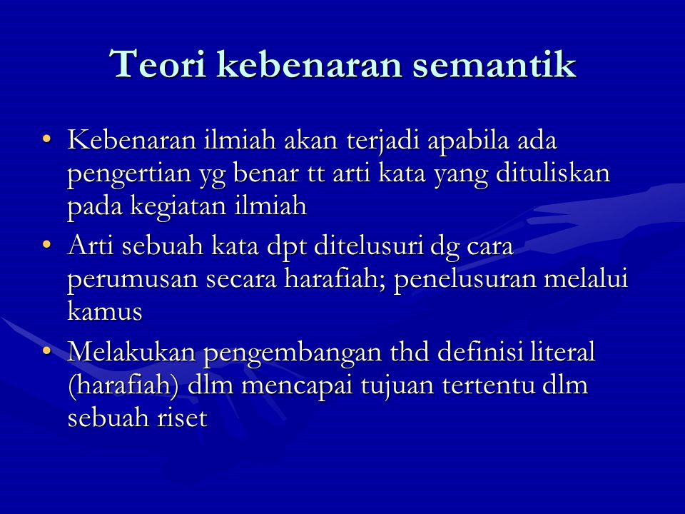 Teori kebenaran semantik
