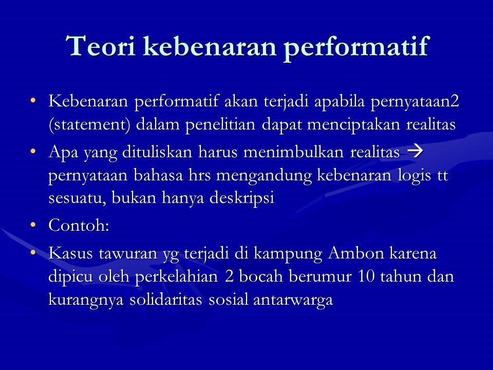 Teori kebenaran performatif