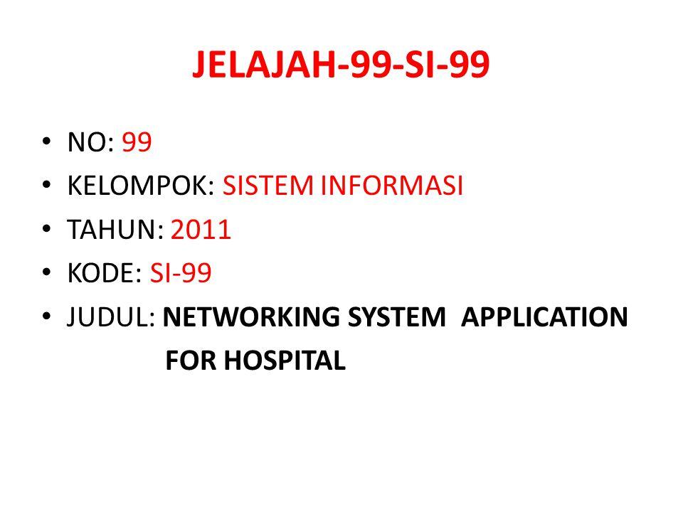 JELAJAH-99-SI-99 NO: 99 KELOMPOK: SISTEM INFORMASI TAHUN: 2011