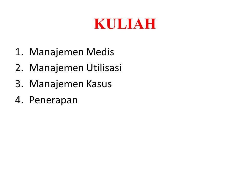 KULIAH Manajemen Medis Manajemen Utilisasi Manajemen Kasus Penerapan