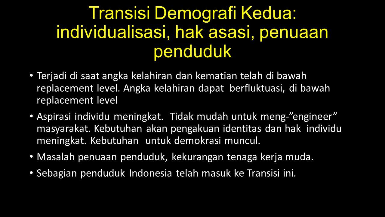 Transisi Demografi Kedua: individualisasi, hak asasi, penuaan penduduk