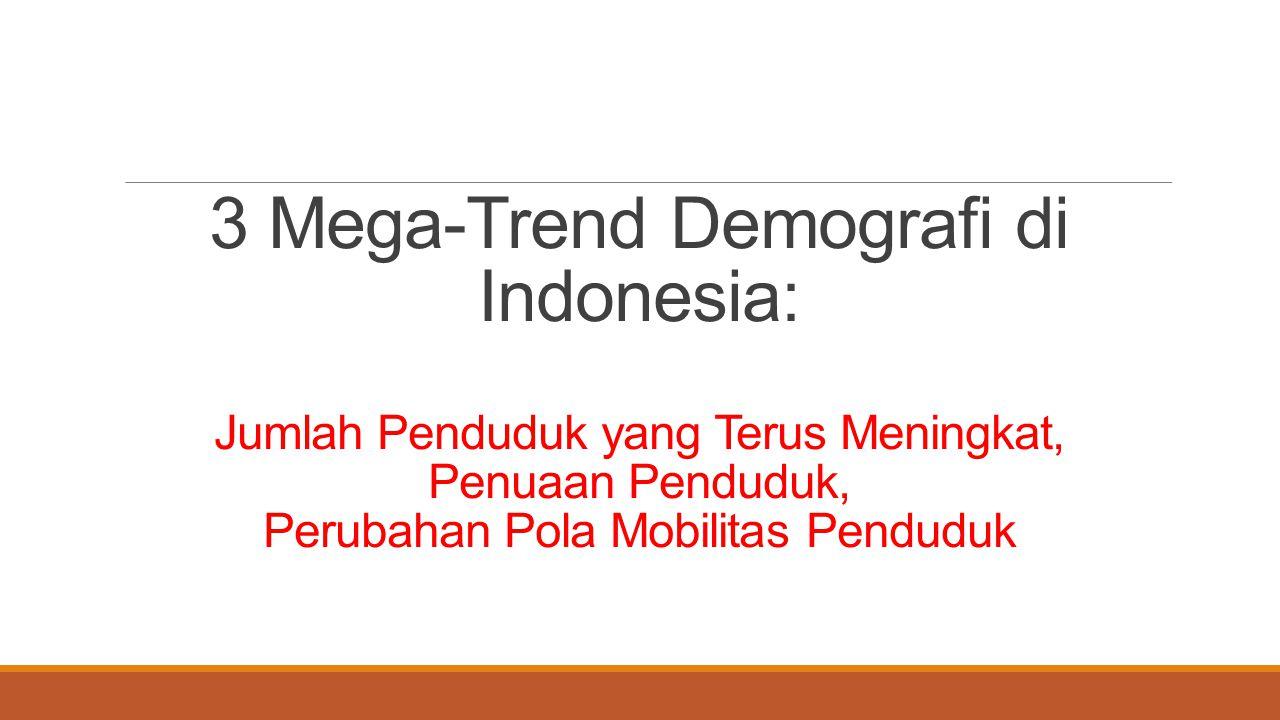 3 Mega-Trend Demografi di Indonesia: Jumlah Penduduk yang Terus Meningkat, Penuaan Penduduk, Perubahan Pola Mobilitas Penduduk