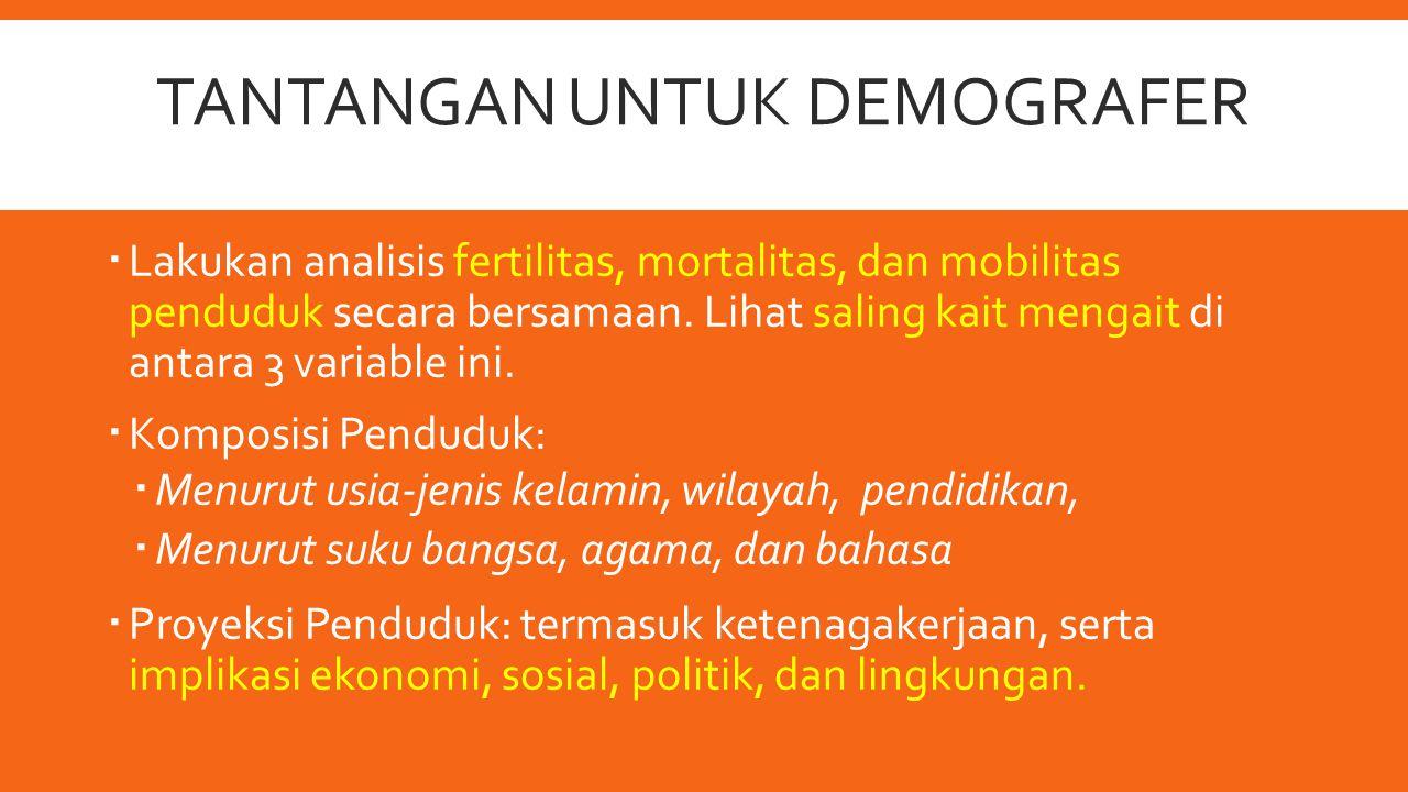 Tantangan untuk Demografer