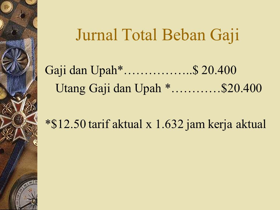 Jurnal Total Beban Gaji
