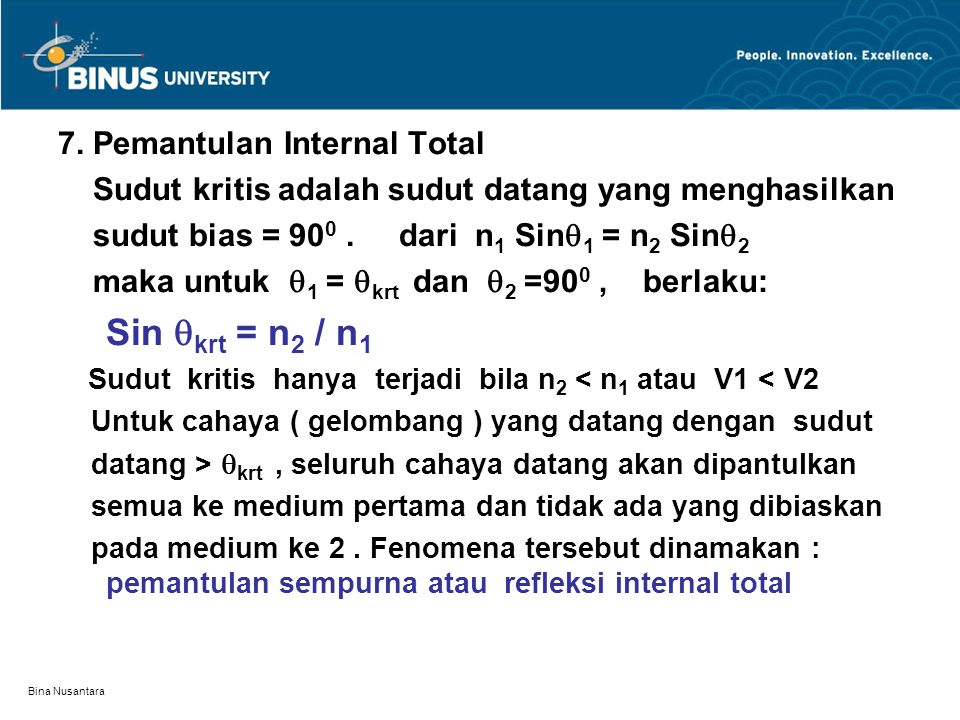 7. Pemantulan Internal Total