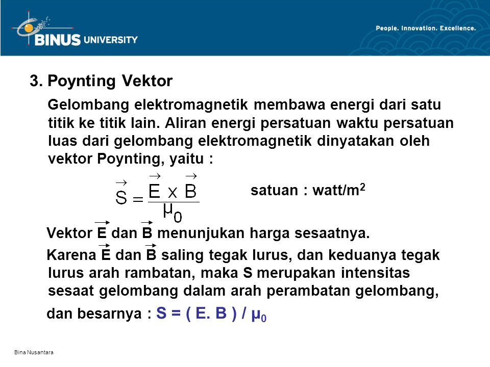 3. Poynting Vektor