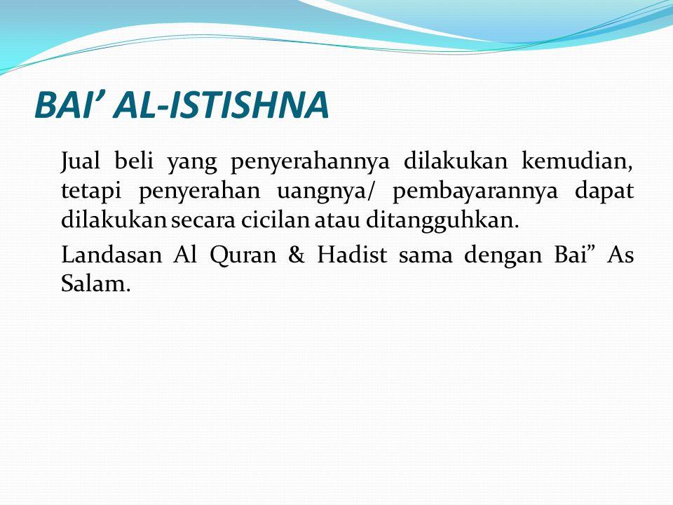 BAI' AL-ISTISHNA