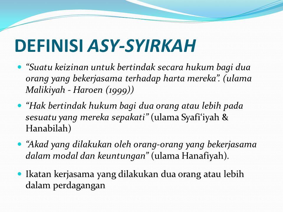 DEFINISI ASY-SYIRKAH