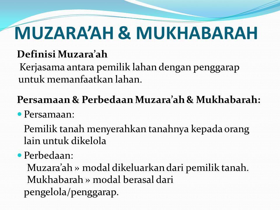 MUZARA'AH & MUKHABARAH
