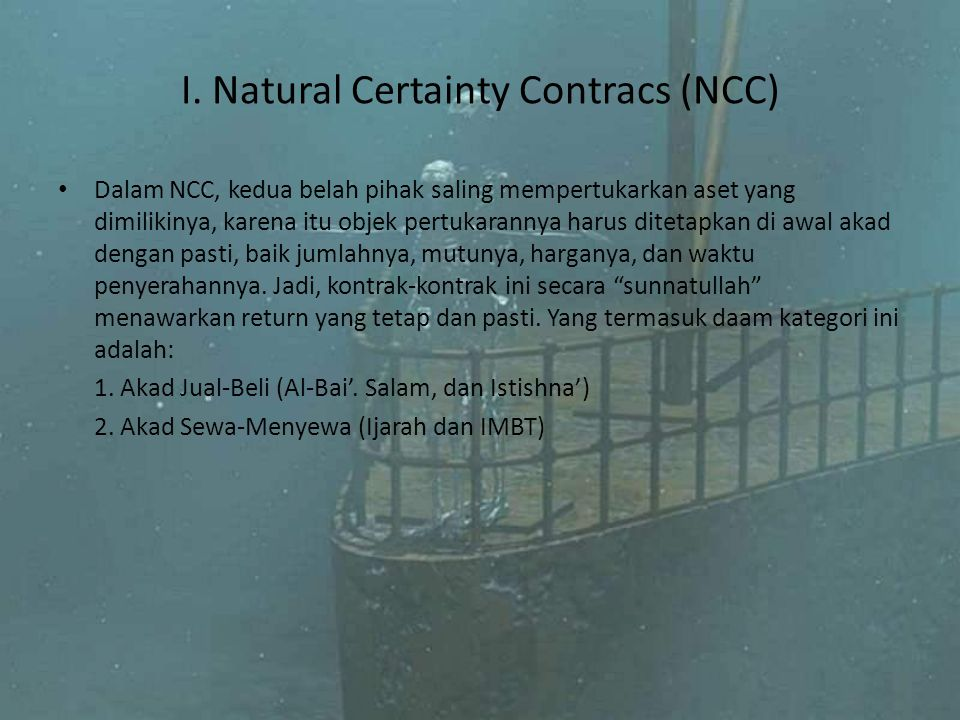 I. Natural Certainty Contracs (NCC)