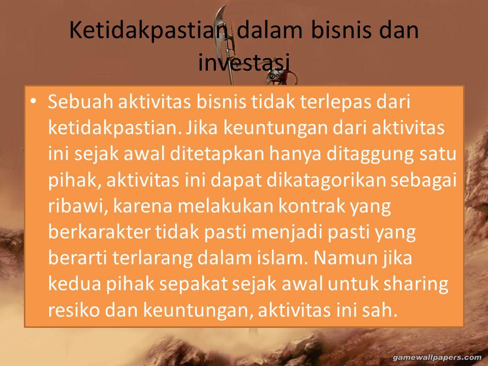 Ketidakpastian dalam bisnis dan investasi