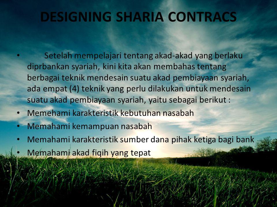 DESIGNING SHARIA CONTRACS