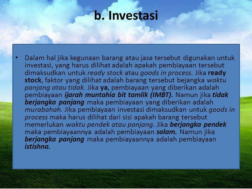 b. Investasi