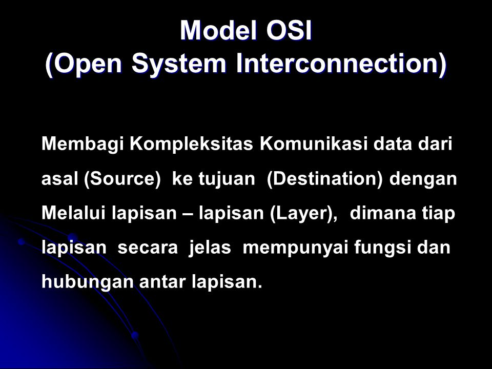 Model OSI (Open System Interconnection)