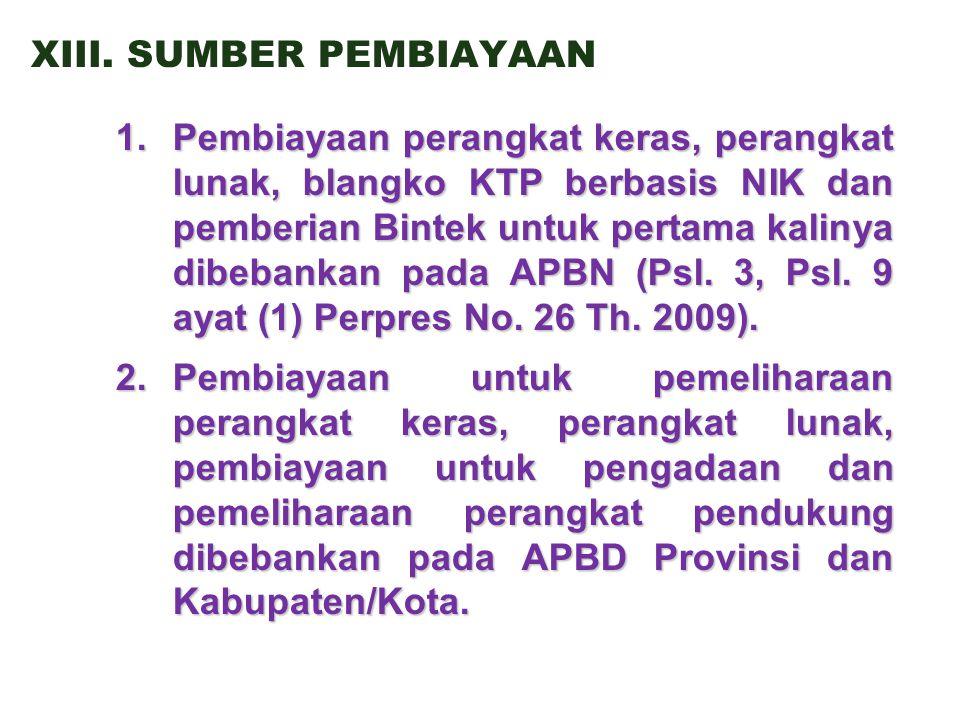 XIII. SUMBER PEMBIAYAAN