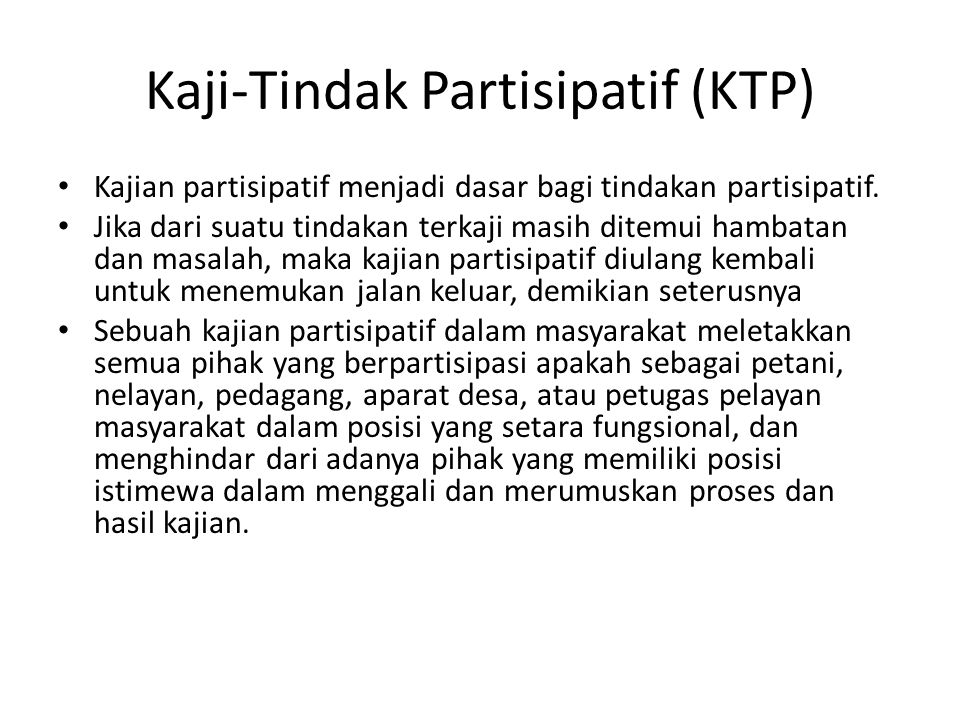 Kaji-Tindak Partisipatif (KTP)