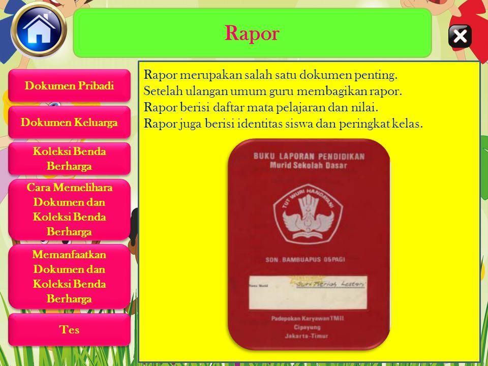 Rapor Rapor merupakan salah satu dokumen penting.