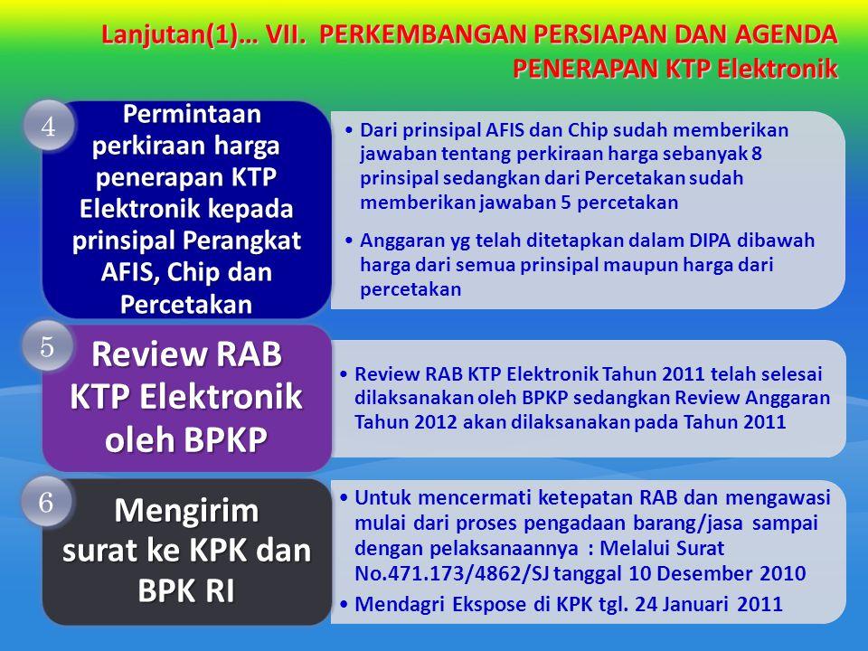 Review RAB KTP Elektronik oleh BPKP Mengirim surat ke KPK dan BPK RI
