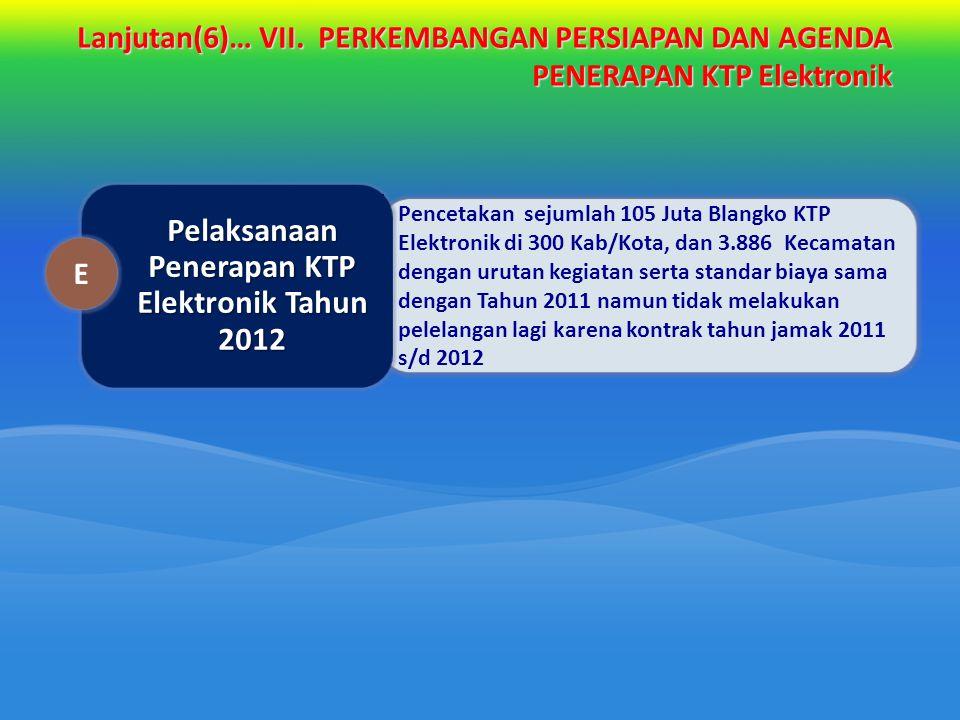 Pelaksanaan Penerapan KTP Elektronik Tahun 2012
