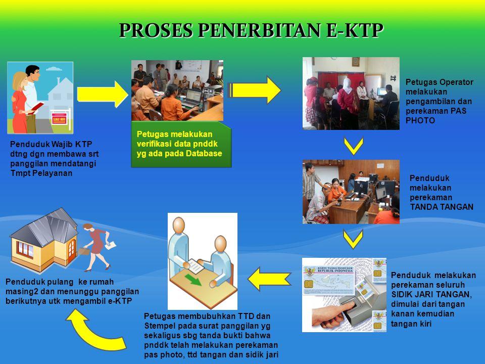 PROSES PENERBITAN E-KTP