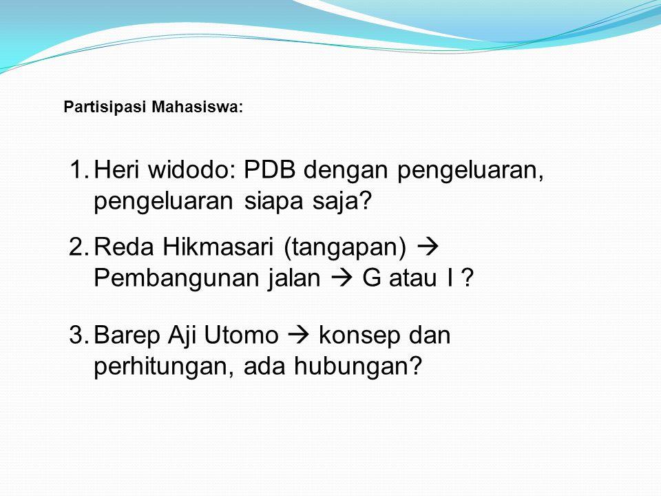 Heri widodo: PDB dengan pengeluaran, pengeluaran siapa saja