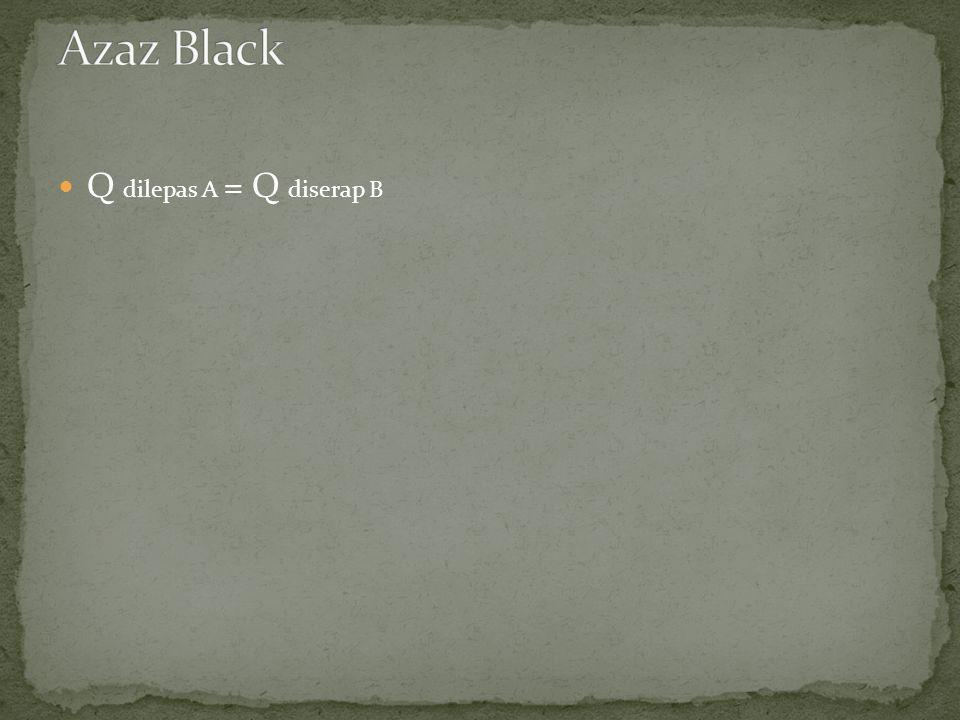 Azaz Black Q dilepas A = Q diserap B