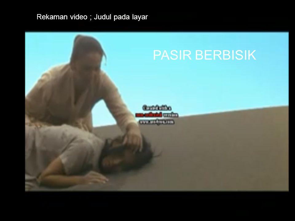 Rekaman video ; Judul pada layar