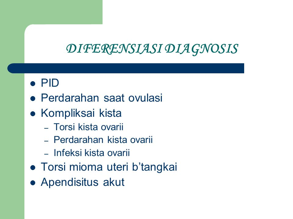 DIFERENSIASI DIAGNOSIS