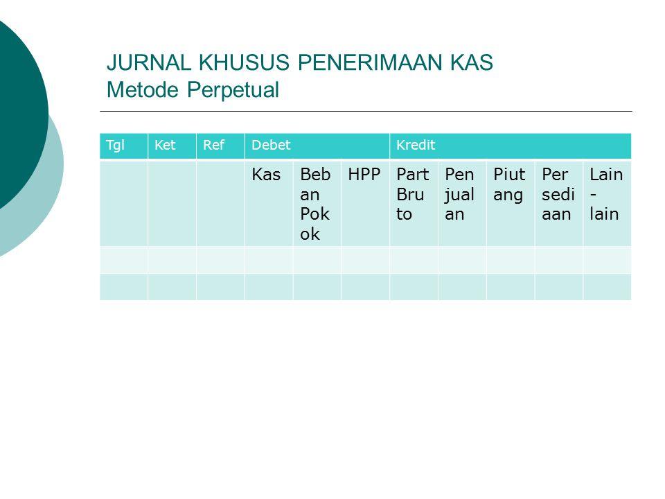 JURNAL KHUSUS PENERIMAAN KAS Metode Perpetual