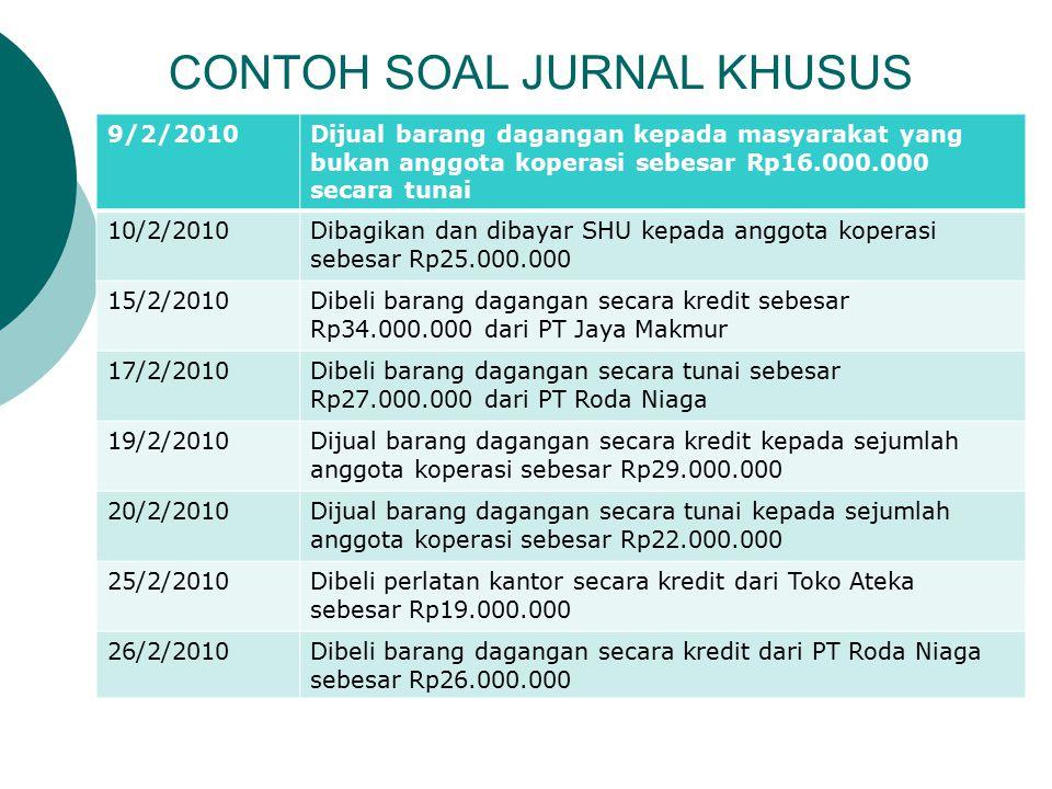 CONTOH SOAL JURNAL KHUSUS