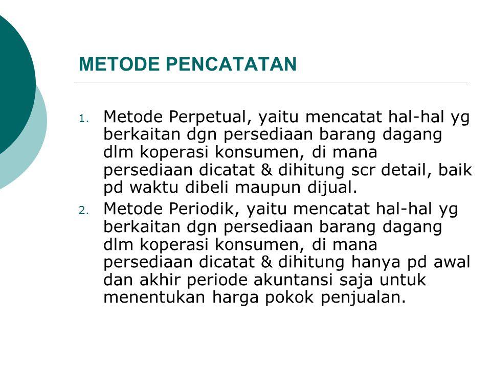 METODE PENCATATAN