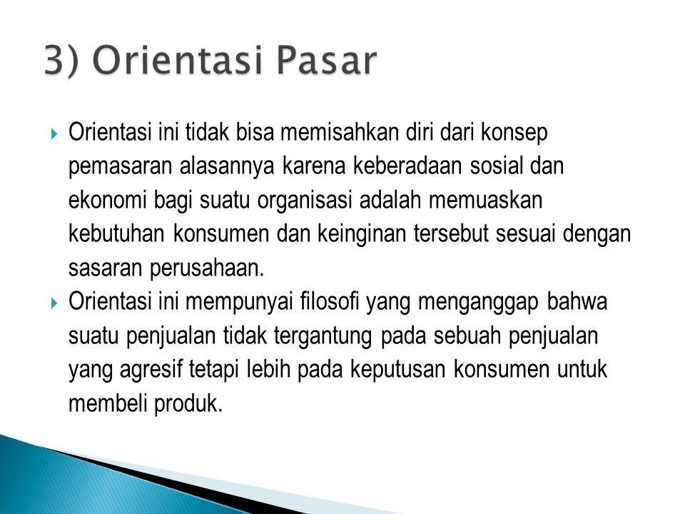 3) Orientasi Pasar