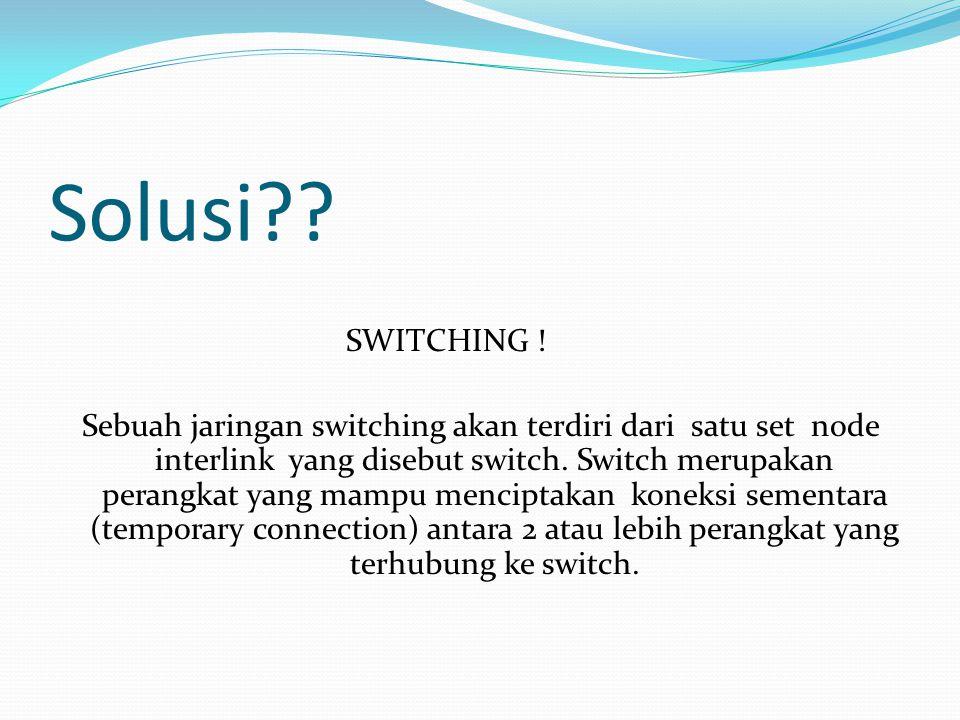 Solusi SWITCHING !