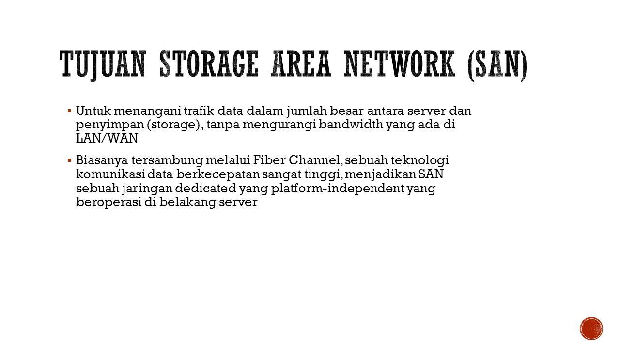 Tujuan Storage Area Network (SAN)