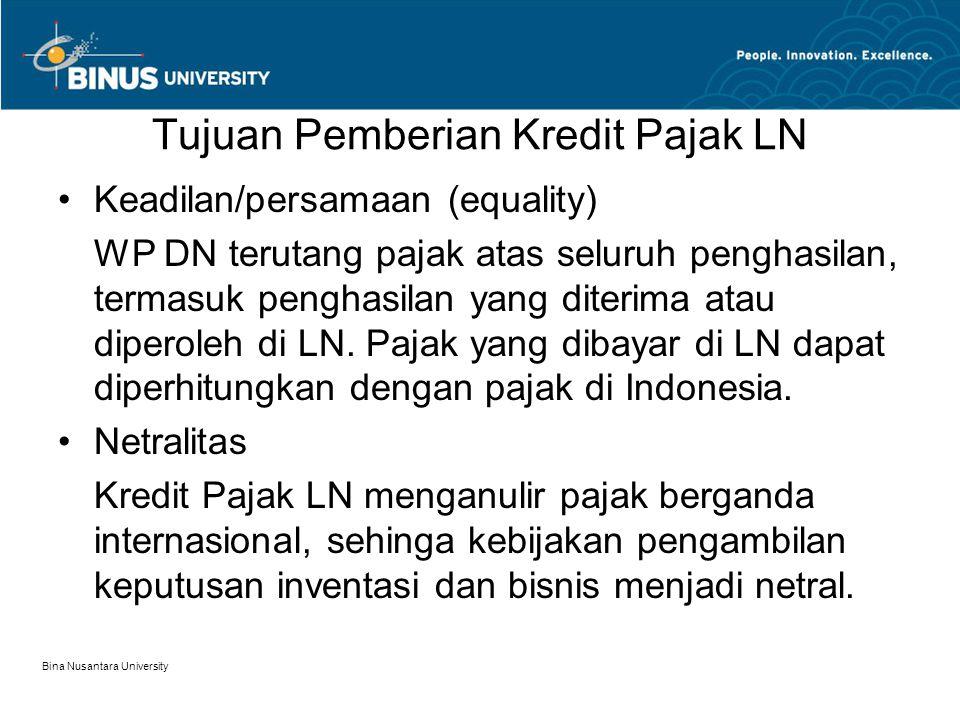 Tujuan Pemberian Kredit Pajak LN