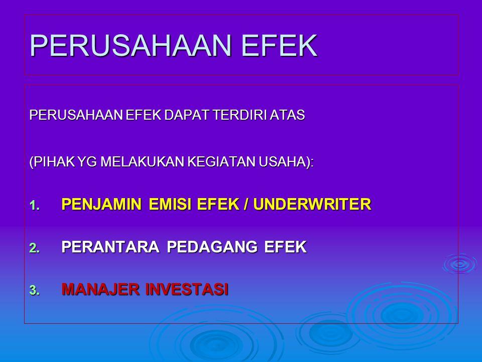 PERUSAHAAN EFEK PENJAMIN EMISI EFEK / UNDERWRITER