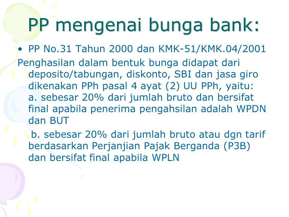 PP mengenai bunga bank: