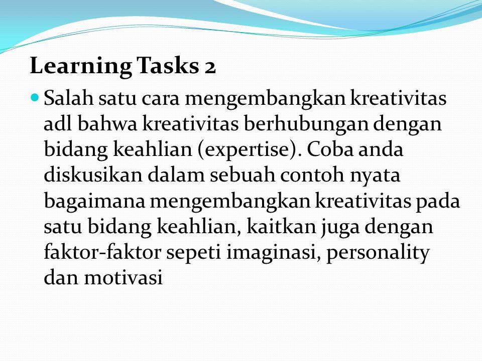 Learning Tasks 2