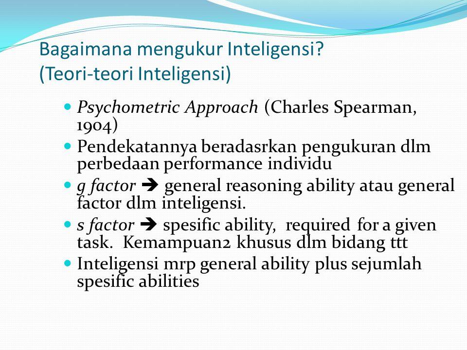Bagaimana mengukur Inteligensi (Teori-teori Inteligensi)