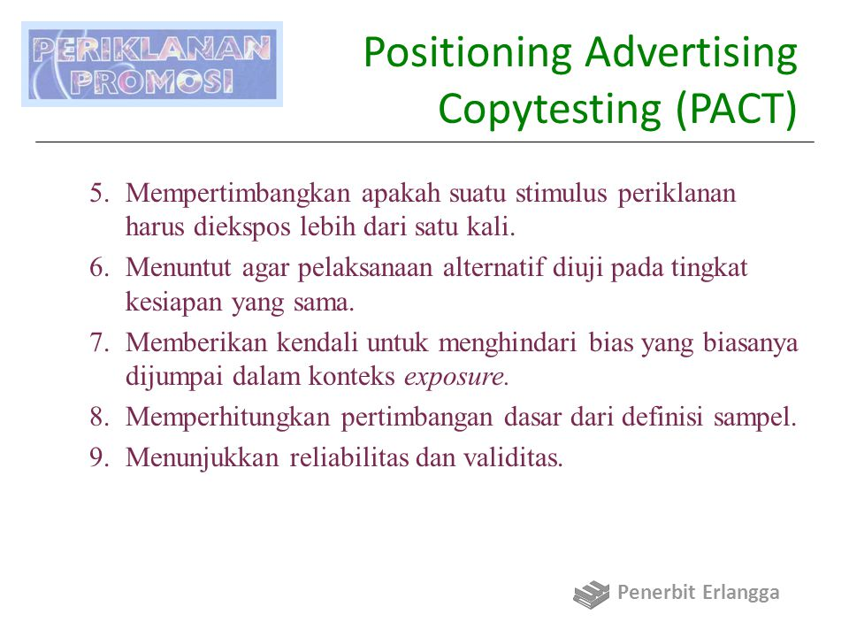 Positioning Advertising Copytesting (PACT)