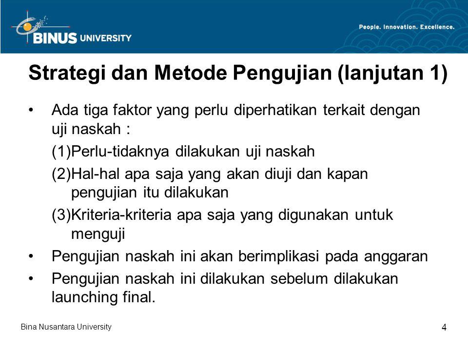 Strategi dan Metode Pengujian (lanjutan 1)
