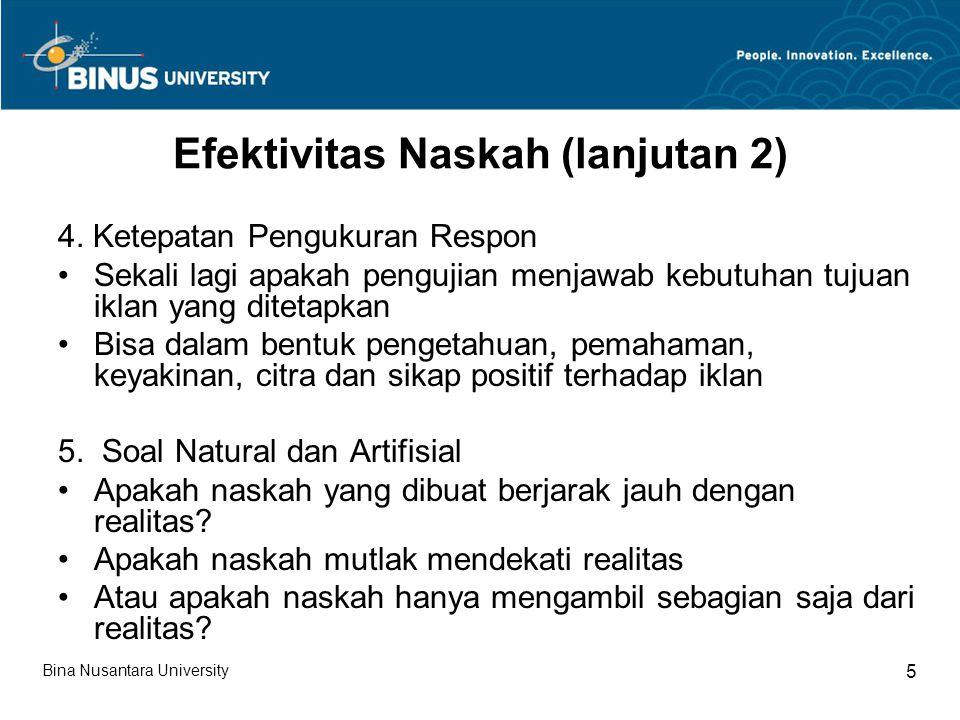 Efektivitas Naskah (lanjutan 2)